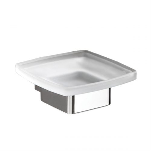 Gedy Lounge Wall Mounted Soap Dish Frosted Glass 5411-13