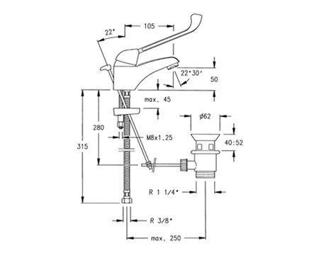 Ramon Soler Short Elbow Medical Basin Tap Lever 5501.MED