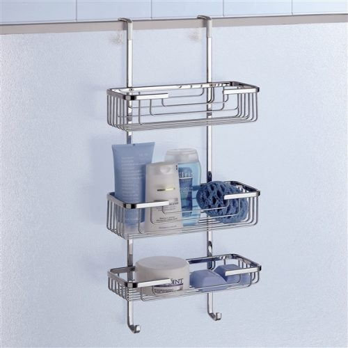 Gedy Triple Hanging Over Shower Door Basket 5684-13