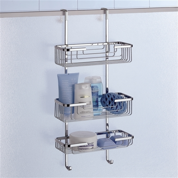 Buy Online Gedy Triple Hanging Over Shower Door Basket 5684-13