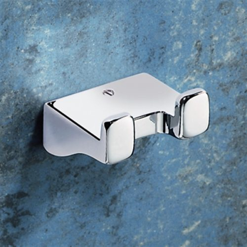 Gedy Glamour Modern Double Robe Hook in chrome 5726-13