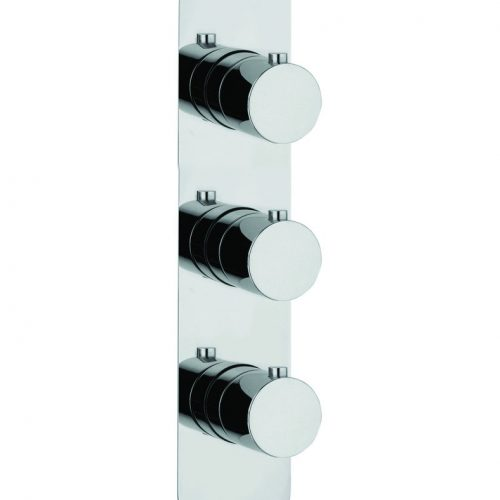 Just Taps Plus Round 3 Outlets Thermostatic Shower Valve