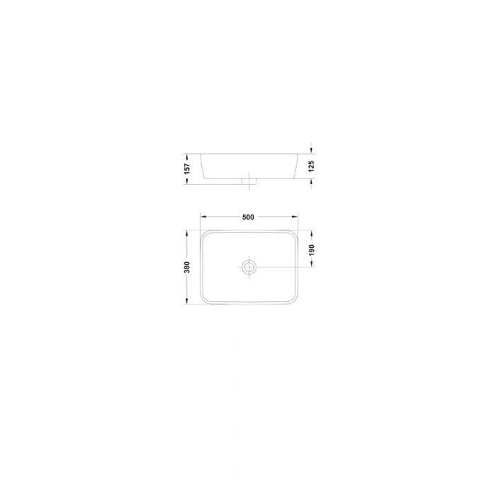 Saneux Project Countertop washbasin 60107