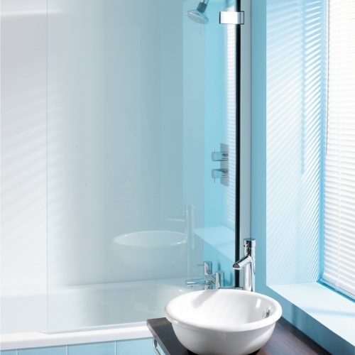 Crosswater Classic Hinged 8mm 860 - 890mm Bath Screen 6041