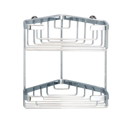 Sonia Double Corner Basket for Shower in Chrome 060795