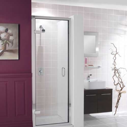Crosswater Classic Hinged Shower Door 840 - 895 900mm 6107