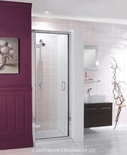 Simpsons Classic Hinged Shower Door 840 - 895 900mm 6107
