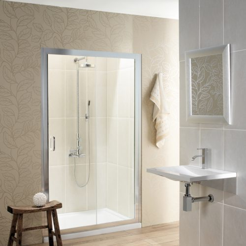 Crosswater Classic Single Slider Shower Door 1400mm 6376