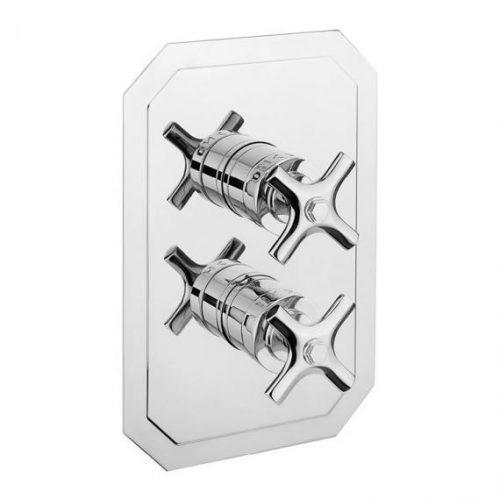 Waldorf Chrome Crosshead thermostatic shower valve
