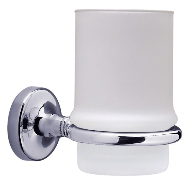 Sonia Dallas Bathroom Glass Tumbler Holder Chrome 068784