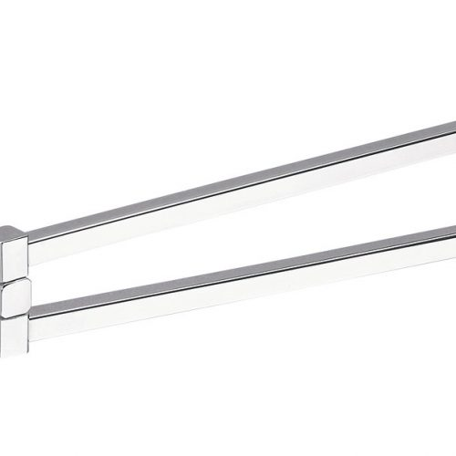 Gedy Colorado Double Swing Towel Rail In Chrome 6923-13