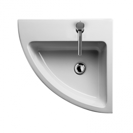 Saneux Jones corner washbasin 54 x 54cm 1 Tap Hole 6936