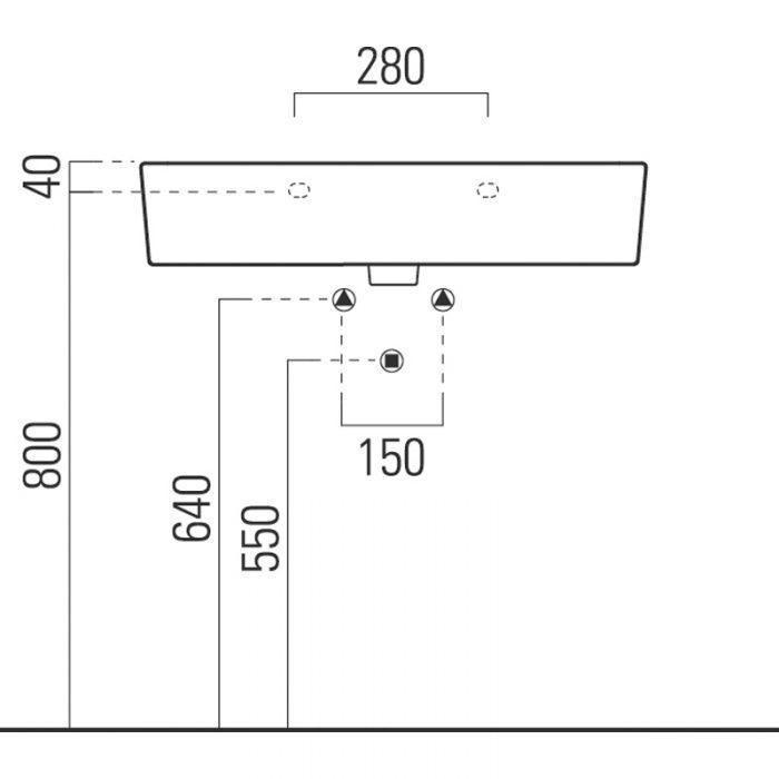 Saneux Washbasin 75 x 44cm ONE TAP HOLE 6940