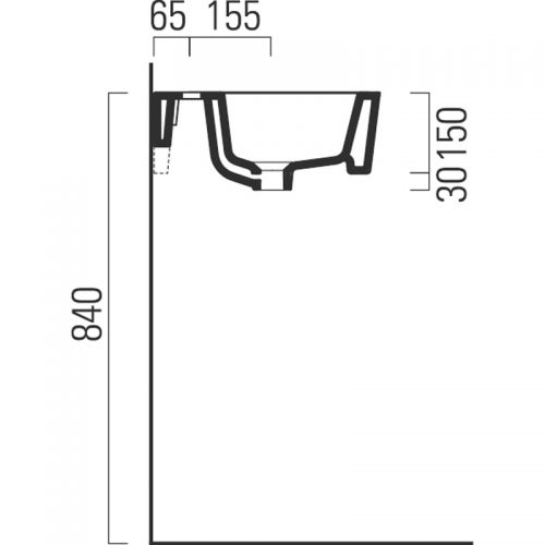 Saneux Washbasin 90 x 44cm One Tap Hole 6944