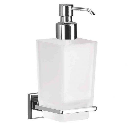 Gedy Colorado Glass Soap Dispenser In chrome 6981-13