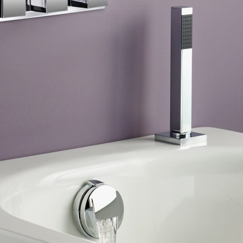 Just Taps Plus SQ Shower Hose, Slim Handle, O/Flw Wst 71130SQ