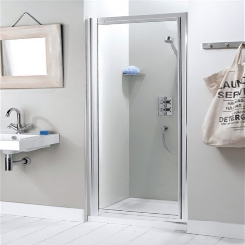 Simpsons Supreme Small Pivot Shower Door Silver 600 7129