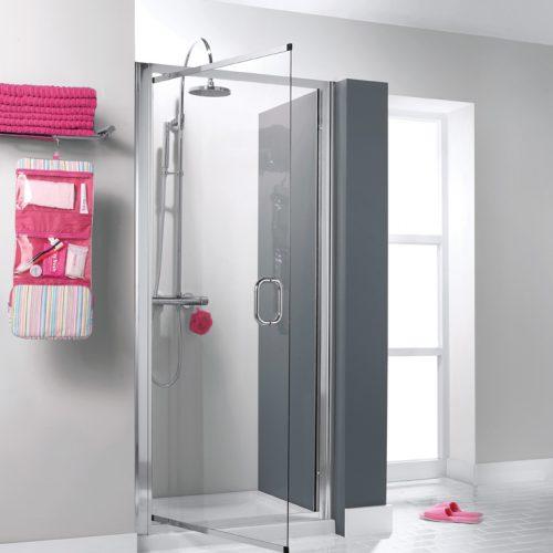 Simpsons Luxury 6mm Pivot Shower Door in Silver 700 7310
