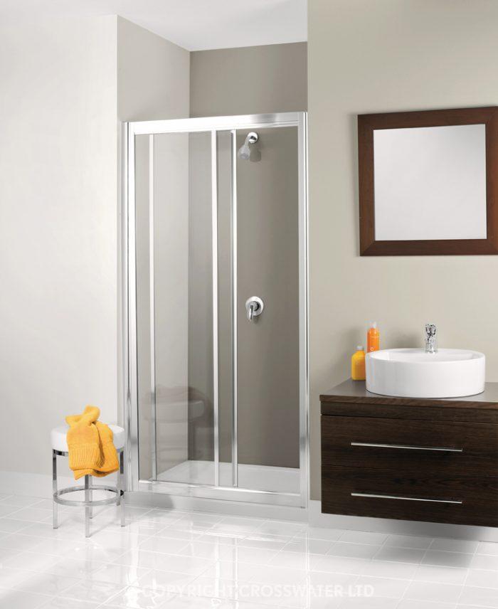 Simpsons Supreme Slider Shower Door in Silver 1000 7337