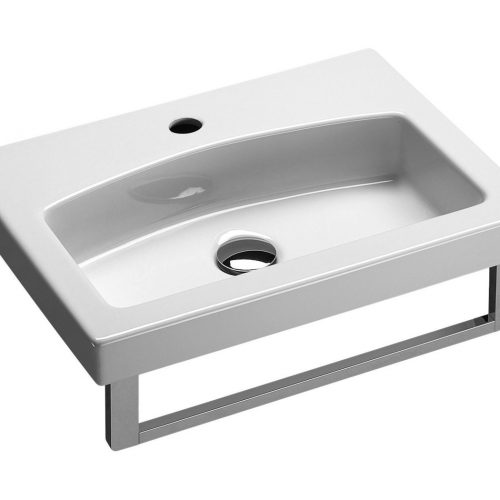 Saneux 50 x 37cm 1 tap hole basin ONLY 7585