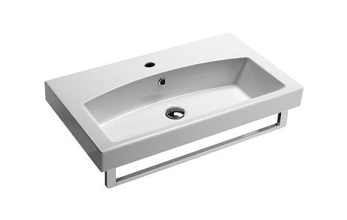Saneux MONTY 75 x 42cm One Tap Hole Washbasin 7587