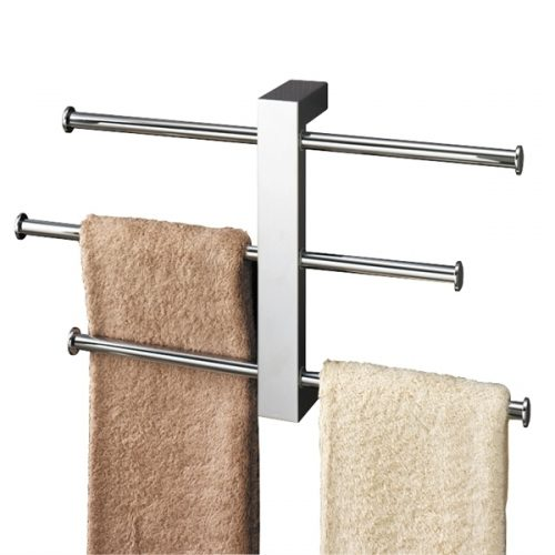 Gedy Bridge Wall Mounted Towel Holder Rails Set 7630-13
