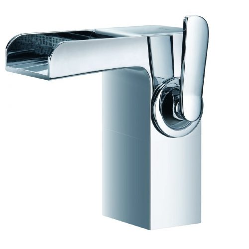 Just Taps Plus Cascata Single/Lever Medium Basin Mixer 77061