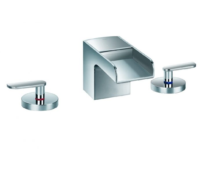 Just Taps Plus Cascata 3 Hole Basin Mixer, HP 1 77191