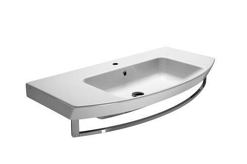 Saneux Poppy 100x50cm 1 Tap Hole Washbasin With Overflow 7723