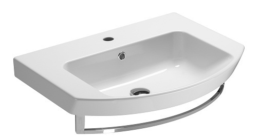 Saneux Poppy 65 x 50cm NO Tap hole Wasbasin & Overflow 7732.0
