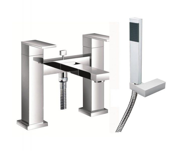 Just Taps Plus Athena bath shower mixer with kit 86275