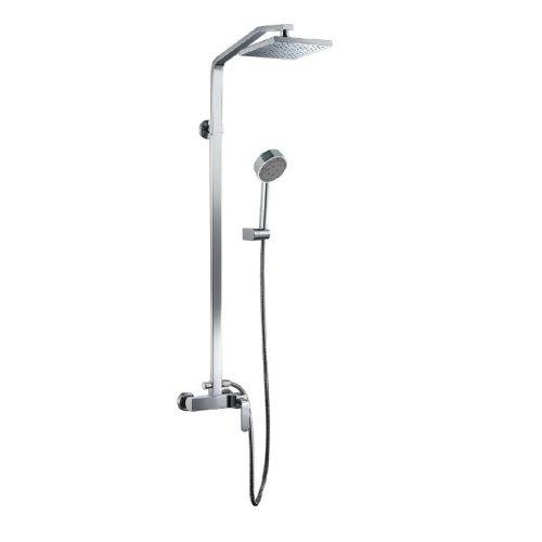 Just Taps Plus Vue S/Lvr Shower Mix+Riser Rail Kit 87035
