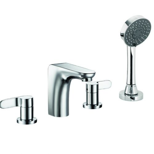 Just Taps Plus Vue 4 Hole Bath Shower Mixer With Handset 87277