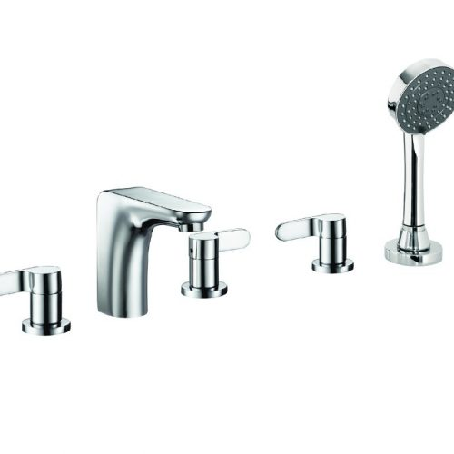 Just Taps Plus Vue 5 Hole Bath Shw Mixer And H/Set 87277A