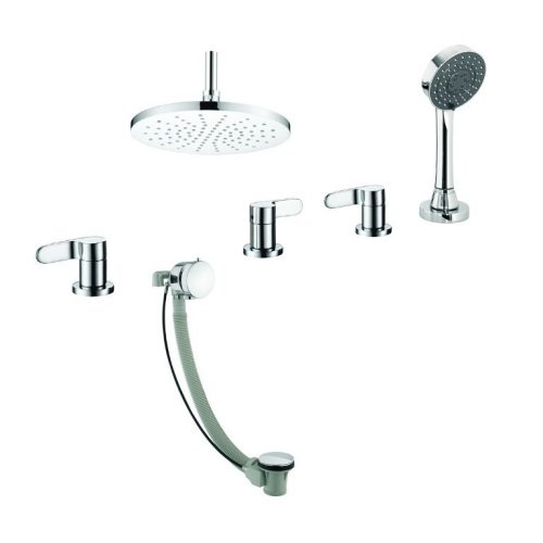 Just Taps Plus Vue 4 Hole 3 Opt Bath Set An Handset 87678