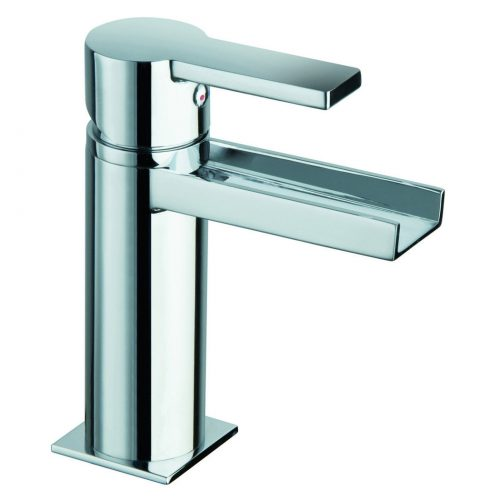 Just Taps Plus Italia open spout basin mixer no waste 89061