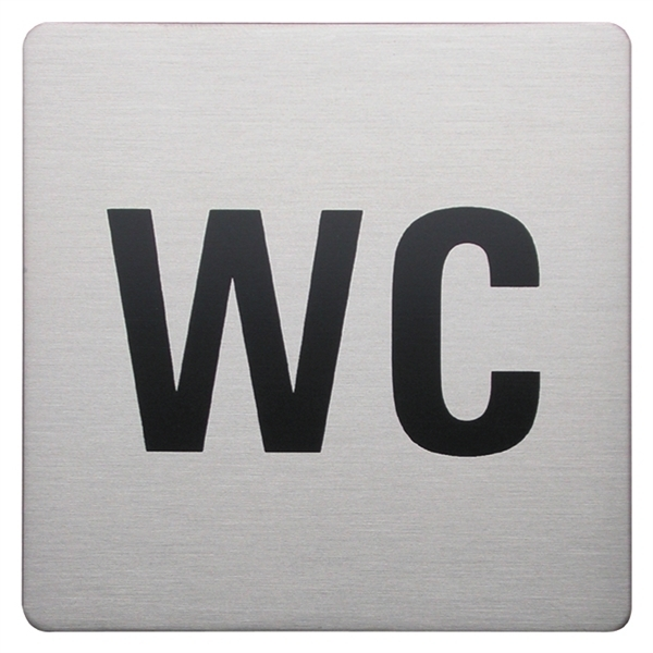 Urban Steel Square WC Sign 8930