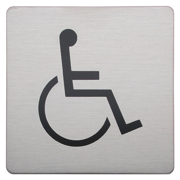 Urban Steel Square Disabled Sign - brushed 8934