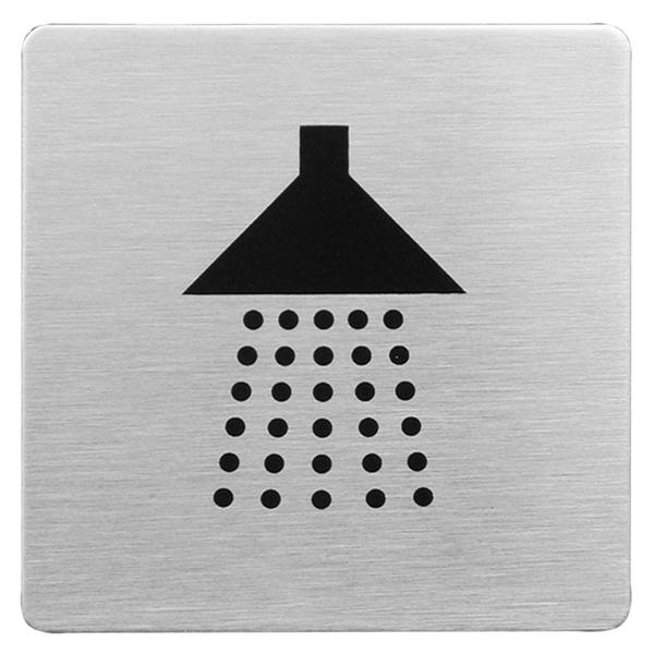Urban Steel Square Shower Sign - brushed 8940