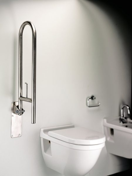 Sonia Disabled Toilet Safety Swing Bar Stainless Steel-0