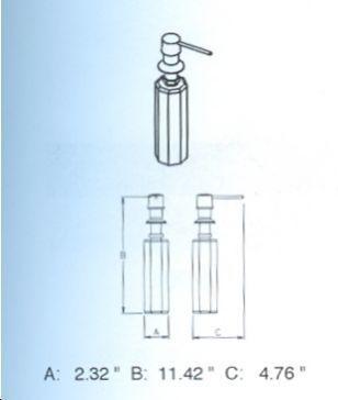 Sonia Under Counter Top Liquid Soap Dispenser Pump 090594-6488