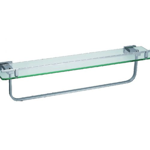 Just Taps Plus Tempered Glass Shelf With Bar 970173