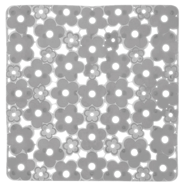 Gedy Margherita Square Clear Shower Mat Flower Design 975151-P2