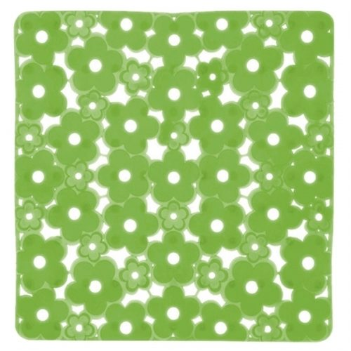 Gedy Margherita Square Shower Mat Flowery Green 975151-P8