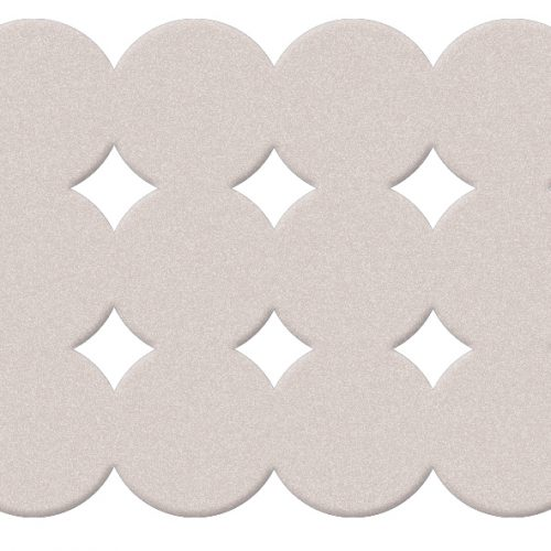 Gedy Giotto Rubber 79cm Bath Mat In white 983979-02