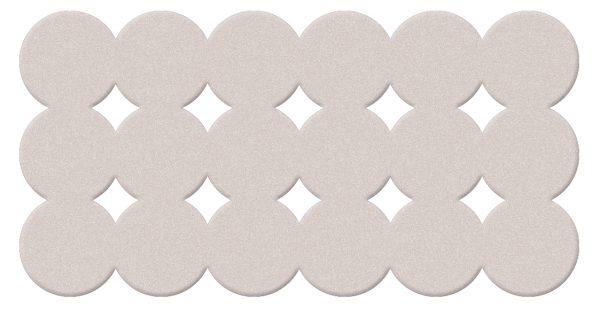 Gedy Giotto Rubber 79cm Bath Mat In white 983979-02