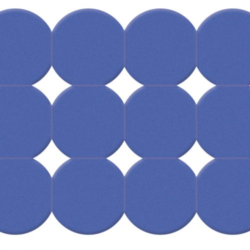 Gedy Giotto 79cm Rubber Bath Mat in Blue 983979-11