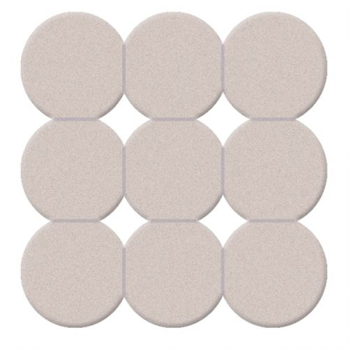 Gedy Giotto Non Slip Rubber Shower Mat in White 985555-02