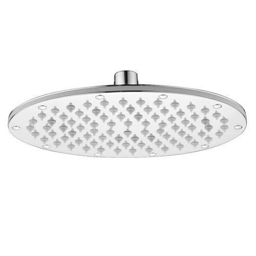 Just Taps Plus Oval Shower Head 230mmX169mm, Brass 9902