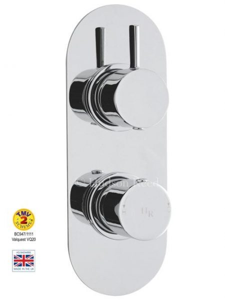 Buy Online Hudson Reed Clio Twin Concealed Thermo Shower Valve A3415